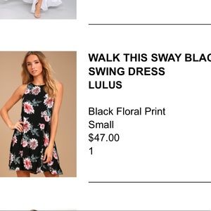 Lulu's Walk This Sway Black Swing Dress